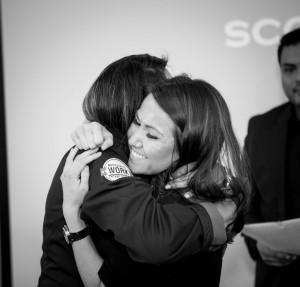 lloyd agencies team members hugging