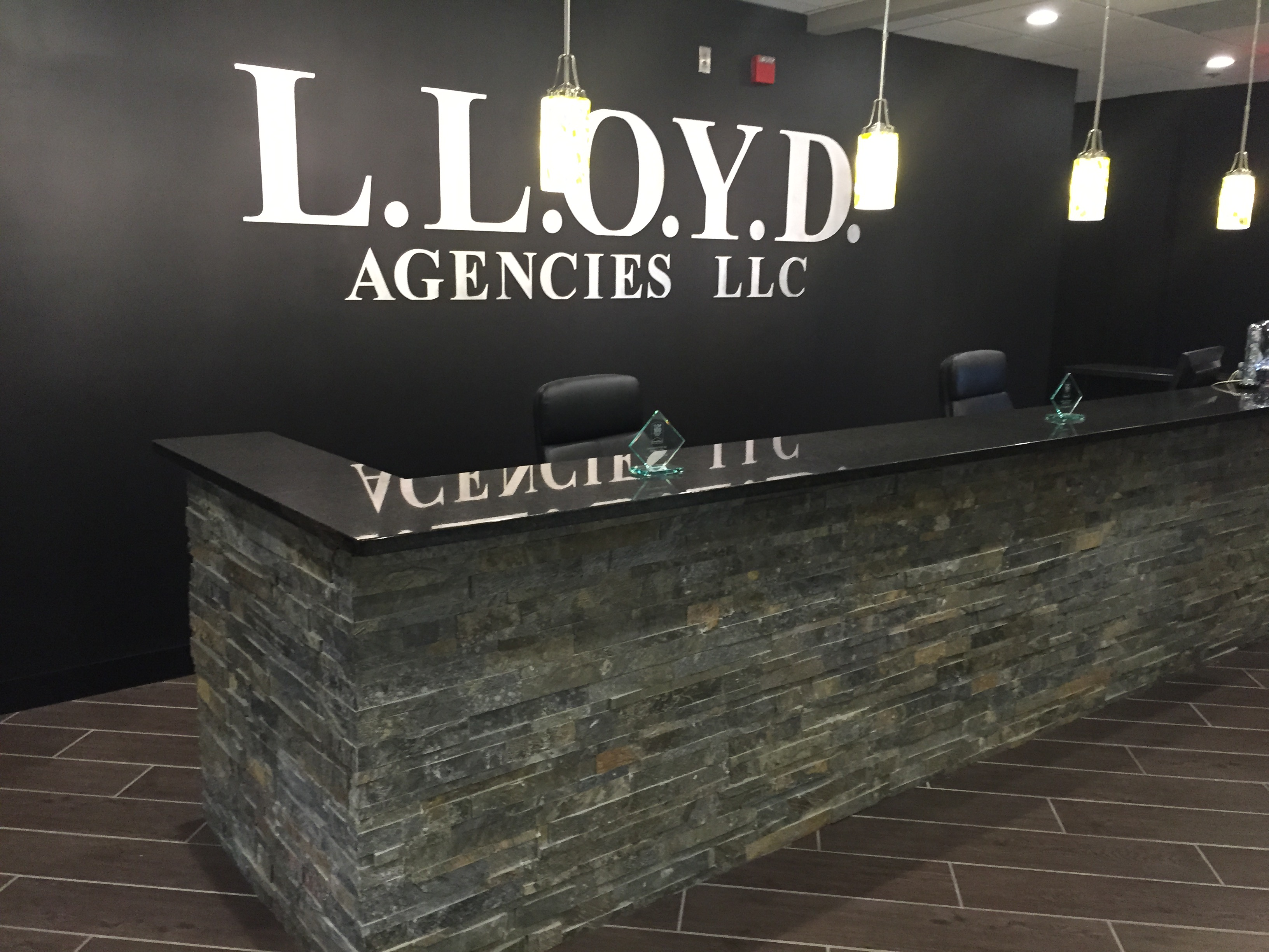 Lloyd agencies lobby side view