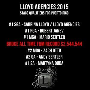 Lloyd Agencies Breaking Records