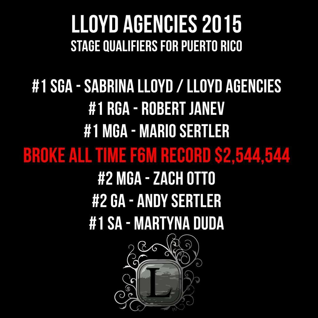 Lloyd Agencies Breaking Records